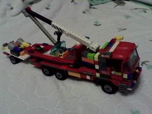 Пожарная машина для перевозки катера